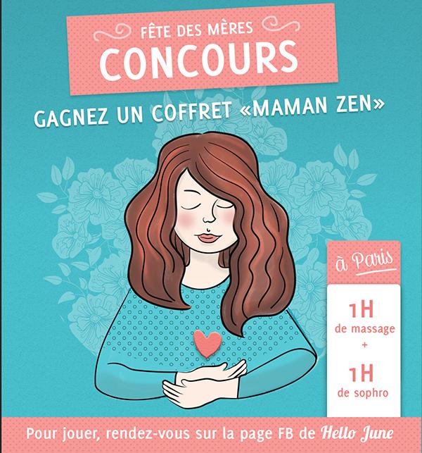 CONCOURS HELLO JUNE, GAGNEZ UN COFFRET MAMAN ZEN !